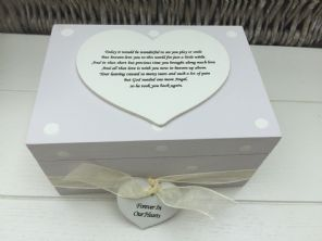 Shabby Personalised Chic In Memory Of A Loved One ~ Any Name ~ Memory Box ~ - 332367746199
